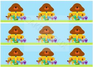 Hey Duggee on Edible Cake Side Strips or Ribbon on Icing Sheet Paper