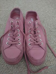 Converse Ladies Baby Pink Leather Size UK5