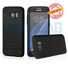 Funda flexible antigolpes gel / TPU Samsung G935 Galaxy S7 Edge carbono gris