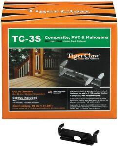 Tiger Claw TC-3S Hidden Deck Fasteners, F-4401-3SRB (90PK) UPC#850925000964