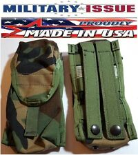 Military Molle Single M16 AR15 M-4 30Rd Ammo Pouch Woodland Safariland SPEAR