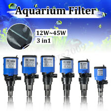 3-in-1 Aquarium Internal Filter Fish Tank Submersible Water Oxygen Air Pump !!