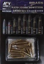 AFV CLUB 1/35 Nato 155mm Howitzer Ammo Set (Brass) - AG35039