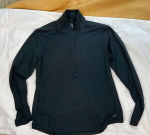 REI Women's long sleeve 1/4 Zip Base Layer Shirt black UPF 50+ size XL
