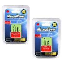MaximalPower Cam Battery For CANON NB-12L LEGRIA PowerShot Mark ? N100 (2PK)