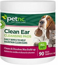 PetNC Natural Care Clean Ear Cleansing Pads for All Pets 90 Count