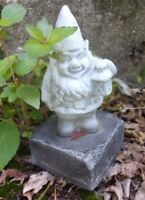 "Latex gnome mold plaster cement mould 4""H x 2"" W at base"