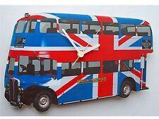 Lark Rise Designs Londra AEC ROUTEMASTER BUS UNION JACK Orologio da parete lrdlbus