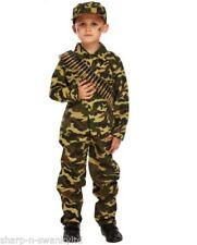 Costumi e travestimenti verde militare vestito per carnevale e teatro per bambini e ragazzi