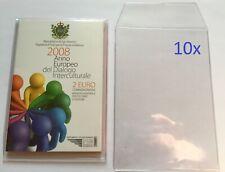 Hoesjes voor het opbergen van 2 Euro blisters San Marino (per 10)