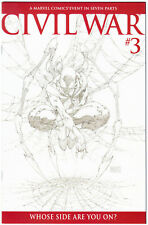 Civil War #3 (2006) Michael Turner 1:75 B&W Sketch Variant High Grade Scans