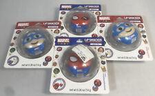 Lipsmacker Lip Balm Marvel Spider-Man Holiday Punch/Captain America Eggnog x4