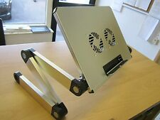 Silver portable portable refroidissement Table Canapé Support bureau + pliant multi angle jambes