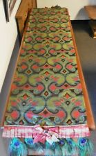 """Mackenzie Childs NEIMAN MARCUS SOLD OUT PEACOCK Feather 72"""" Table RUNNER $465NWT"""