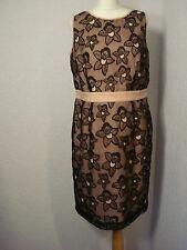 BNWOT Teatro pink & black lace shift dress 16