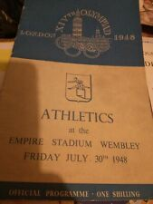 More details for london 1948 olympics programme - athletics july 30th olympiad vintage newspaper