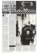 NEWSPAPER CLIPPING/ADVERT 8/10/94PGN20 THE CULT & IAN ASTBURY