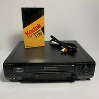 Sony SLV-N60 Hi-Fi Stereo VCR Tested Working - No Remote