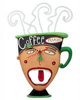 Coffee Please Swinging Pendulum Clock by Allen Designs 15x8.25 inches