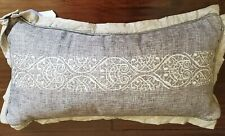 "`NEW CROSCILL ALITA SILVER GRAY  22"" X 11"" BOUDOIR THROW  PILLOW"