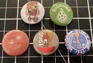 Subbuteo Style World Cup 1966 Retro 25mm Pin Badges