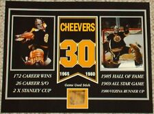 GERRY CHEEVERS BOSTON BRUINS GAME USED STICK 8 X 10 COA