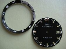 GENUINE IWC SCHAFFHAUSEN AUTOMATIC WATCH BLACK DIAL WITH ROTATING BEZEL RING NOS