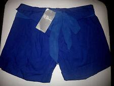 Palma Australia  $69 size 8 Blue Cotton High Waist Chiffon Tie Shorts Designer