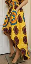 'Sophie' African Print High-Low Skirt 100 % Wax Cotton Handmade UK