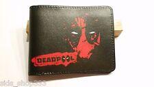 NEW THINNER DESIGN DEADPOOL BlaCK ! bi fold wallet X-Men Marvel Comics US Seller