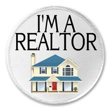 """I'm A Realtor - 3"""" Sew / Iron On Patch Real Estate Agent House Home Sales Gift"""