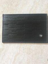 Montblanc 2 CC Black Leather Pocket Card Holder. Brand New