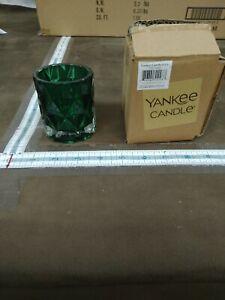 Yankee Candle Tea Light Glass Votive Green fractal 1537442