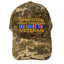 DIGITAL CAMO CAMOUFLAGE OPERATION IRAQI FREEDOM VETERAN RIBBON Military Cap Hat