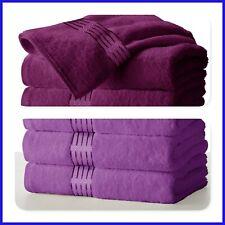 """Large Purple & Plum Bath Towels Pack Set 100% Cotton 27""""x58"""" 450 GSM Absorbent"""