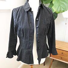 Ralph Lauren Jeans pin stripe peplum jacket size 6