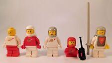 Vintage Original Lego Classic Space Spaceman Astronaut Knight Minifigures Lot