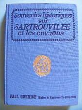 Paul Guériot Souvenirs Historiques sur Sartrouville 1970 Yvelines Île-de-France