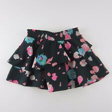 77 Kids Girls Skirt Size 4T Layered Black Floral Pleated