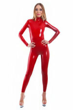 combinaison latex rouge