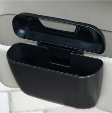 1xConvenient Auto Black Trash Container Garbage Bin Storage Collect Plastic Can