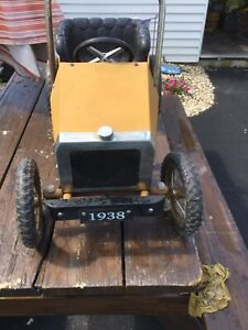 Vintage 1938 Roadster Classic Pedal Car UNRESTORED ORIGINAL Not a reproduction!
