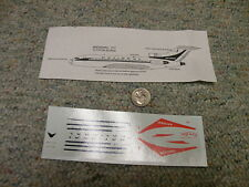 Rare-Cal decals 1/200 National Boeing 727  N15