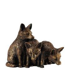 Border Fine Arts Studio Bronze Finish A28715 Fox Cubs Figurine