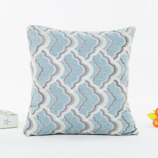 Luxury Pattern Print Boho Pillow Case Sofa Waist Throw Cushion Cover Home Decor Blue