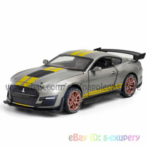 Ford Mustang Shelby GT500 1:32 Model Car Alloy Diecast Toy Vehicle Kid Gift Gray