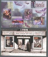 Ireland-Bram Stoker-Dracula Literature  mnh 2 min sheets 1997 & 2012