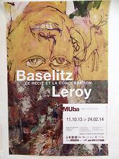 BASELITZ Georg LEROY Eugène Affiche originale Tourcoing Autoportrait Allemagne