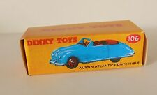 Repro box Dinky nº 106 Austin Atlantic convertible azul claro/azul oscuro