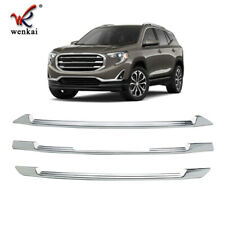 Chrome Grille Overlay Front Grill Trim Covers Inserts For GMC TERRAIN 2018 2019